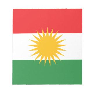 Vlag van Koerdistan; Koerd; Koerdisch Notitieblok