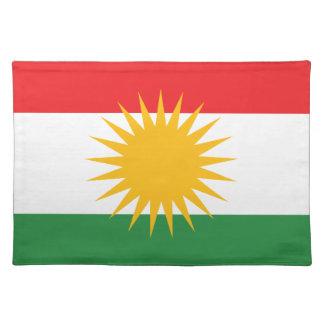 Vlag van Koerdistan; Koerd; Koerdisch Placemats