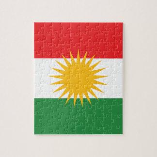 Vlag van Koerdistan; Koerd; Koerdisch Puzzel