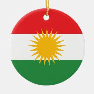 Vlag van Koerdistan; Koerd; Koerdisch Rond Keramisch Ornament