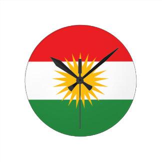 Vlag van Koerdistan; Koerd; Koerdisch Ronde Klok Medium