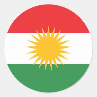 Vlag van Koerdistan; Koerd; Koerdisch Ronde Sticker