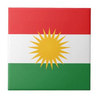 Vlag van Koerdistan; Koerd; Koerdisch Tegeltje Vierkant Small