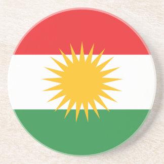 Vlag van Koerdistan; Koerd; Koerdisch Zandsteen Onderzetter