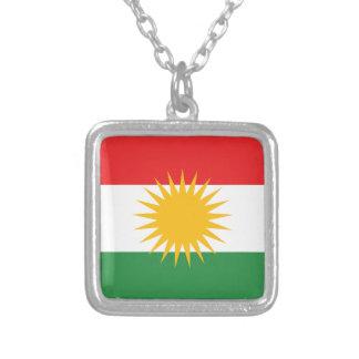 Vlag van Koerdistan; Koerd; Koerdisch Zilver Vergulden Ketting