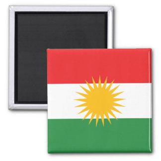 Vlag van Koerdistan Vierkante Magneet