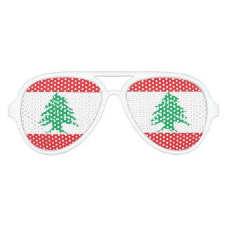 Vlag van Libanon, de Libanese Vlag van de Pret Zonnebril