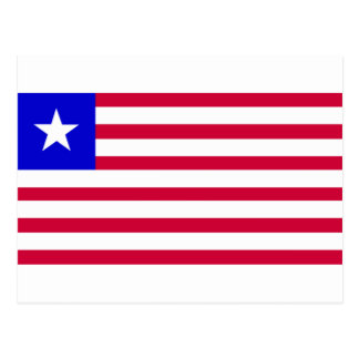 Vlag van Liberia Briefkaart
