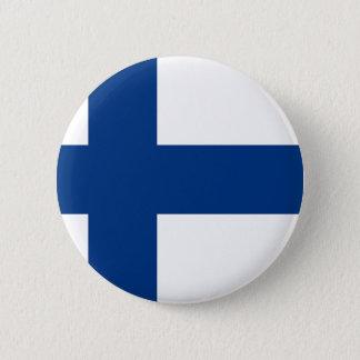 Vlag van lippu Finland - Suomen - Finse Vlag Ronde Button 5,7 Cm