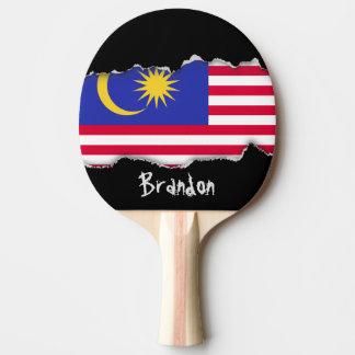 Vlag van Maleisië Tafeltennis Bat