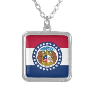 Vlag van Missouri Zilver Vergulden Ketting