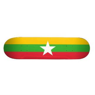 Vlag van Myanmar het Dek van het Skateboard