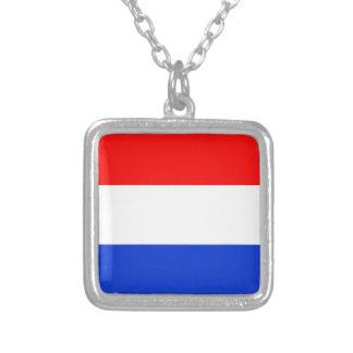 Vlag van Nederland Zilver Vergulden Ketting