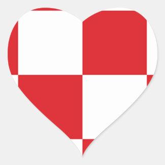Vlag van Noord-Brabant Hartvormige Stickers