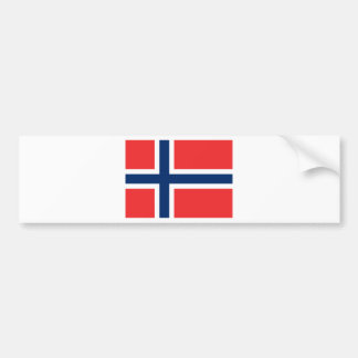 Vlag van Noorwegen - Norges flagg - Det norske Bumpersticker