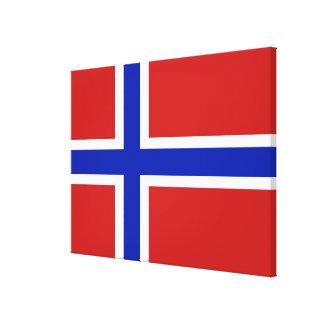 Vlag van Noorwegen Skandinaviër Canvas Afdruk