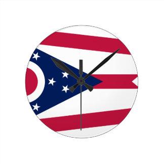 Vlag van Ohio Ronde Klok
