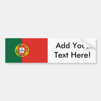 Vlag van Portugal Bumpersticker