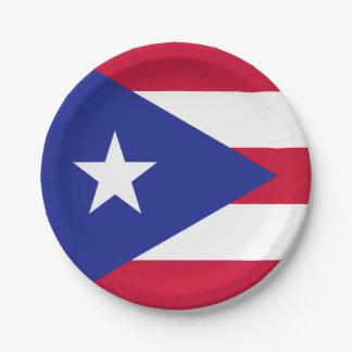 Vlag van Puerto Rico Papieren Bordje