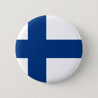 Vlag van Republiek Finland Ronde Button 5,7 Cm