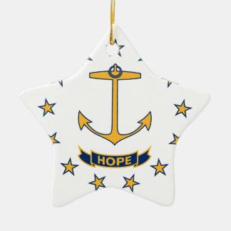 Vlag van Rhode Island Keramisch Ster Ornament