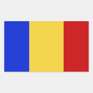 Vlag van Roemenië Rechthoekige Sticker
