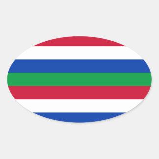Vlag van Schiermonnikoog Ovaalvormige Sticker