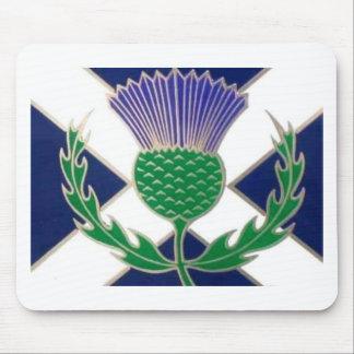 Vlag van Schotland en Distel Muismat
