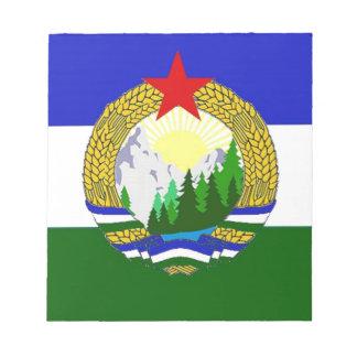 Vlag van Socialistische Cascadia Notitieblok