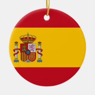 Vlag van Spanje - Bandera DE España - Spaanse Vlag Rond Keramisch Ornament