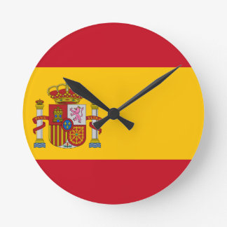 Vlag van Spanje - Bandera DE España - Spaanse Vlag Ronde Klok