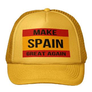 Vlag van Spanje - maak Spanje Groot opnieuw Trucker Pet