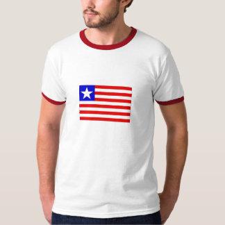 Vlag van T-shirt van de Bel van Liberia de Mannen