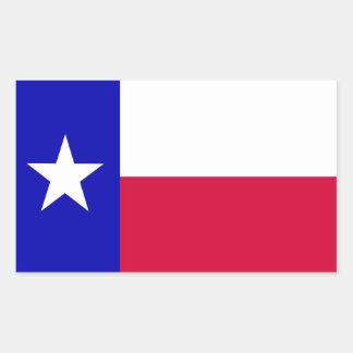 Vlag van Texas Rechthoekige Sticker