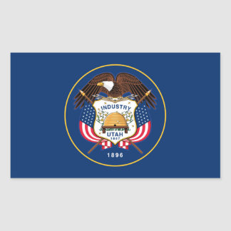 Vlag van Utah Rechthoekige Sticker