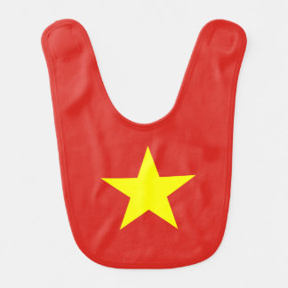 Vlag van Vietnam Baby Slabbetje
