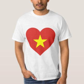 Vlag van Vietnam - de Liefde Vietnam van I - Sao T Shirt