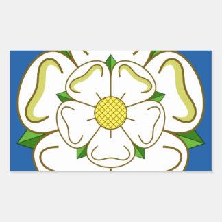 Vlag van Yorkshire Rechthoekige Sticker