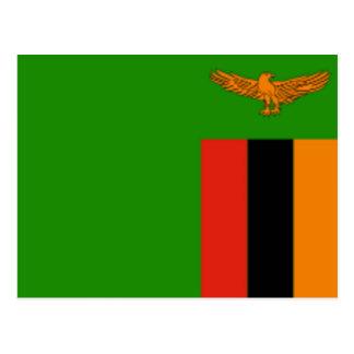 Vlag van Zambia Briefkaart