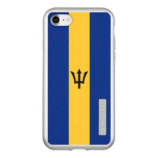 Vlag van Zilveren iPhoneHoesje van Barbados Incipio DualPro Shine iPhone 8/7 Hoesje