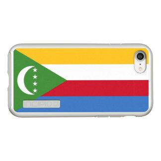 Vlag van Zilveren iPhoneHoesje van de Comoren Incipio DualPro Shine iPhone 8/7 Hoesje