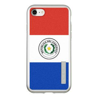 Vlag van Zilveren iPhoneHoesje van Paraguay Incipio DualPro Shine iPhone 8/7 Hoesje