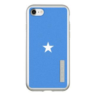 Vlag van Zilveren iPhoneHoesje van Somalië Incipio DualPro Shine iPhone 8/7 Hoesje