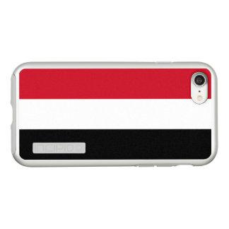 Vlag van Zilveren iPhoneHoesje van Yemen Incipio DualPro Shine iPhone 8/7 Hoesje