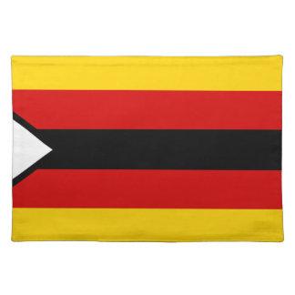 Vlag van Zimbabwe - Zimbabwean - Mureza weZimbabwe Placemat