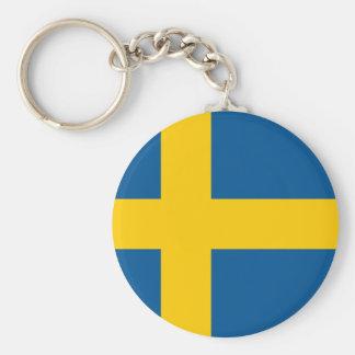 Vlag van Zweden Keychain Sleutelhanger