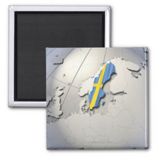 Vlag van Zweden Magneet
