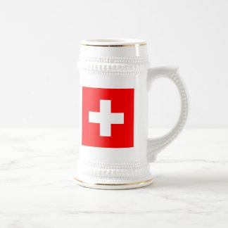 Vlag van Zwitserland Bierpul