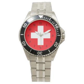Vlag van Zwitserland Horloge