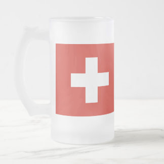 Vlag van Zwitserland Matglas Bierpul